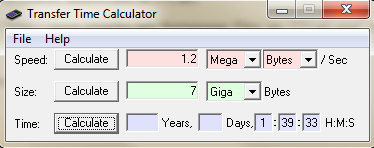 Transfer Time Calculator